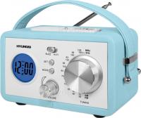 Радиоприемник Hyundai H-1612 (Light Blue) - полубоком