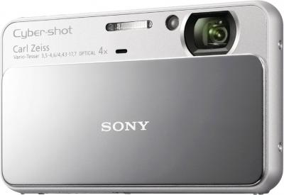 Компактный фотоаппарат Sony Cyber-shot DSC-T110 (Silver) - Вид спереди