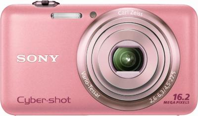 Компактный фотоаппарат Sony Cyber-shot DSC-WX7 Pink - Вид спереди