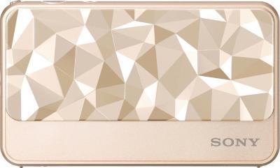 Компактный фотоаппарат Sony DSC-T110D (DSCT110DN.CEE2) Gold - вид спереди