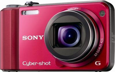 Компактный фотоаппарат Sony Cyber-shot DSC-H70 (DSCH70R.CEE2) Red - Вид спереди