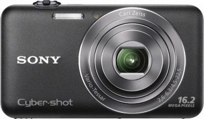 Компактный фотоаппарат Sony Cyber-shot DSC-WX30 (Black) - Вид спереди