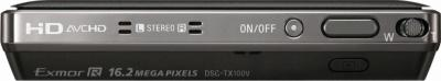 Компактный фотоаппарат Sony Cyber-shot DSC-WX10 (DSCWX10B.CEE2 Black) - Вид сверху