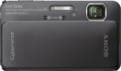 Компактный фотоаппарат Sony Cyber-shot DSC-TX10 Black - Вид спереди