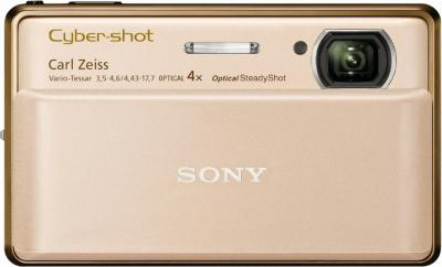Компактный фотоаппарат Sony Cyber-shot DSC-TX100V Gold - Вид спереди