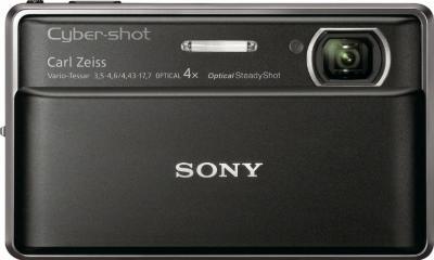 Компактный фотоаппарат Sony Cyber-shot DSC-TX100V Black - вид спереди