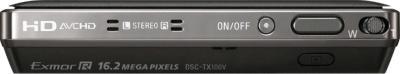 Компактный фотоаппарат Sony Cyber-shot DSC-TX100V Black - вид сверху