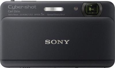 Компактный фотоаппарат Sony Cyber-shot DSC-TX55 (Black) - Вид спереди