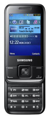 Мобильный телефон Samsung E2600 Black (GT-E2600 ZKASER) - вид спереди