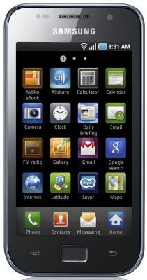 Смартфон Samsung I9003 Galaxy S scLCD Black (GT-I9003 MKJSER) - вид спереди