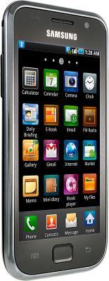 Смартфон Samsung I9003 Galaxy S scLCD Black (GT-I9003 MKJSER) - вид сбоку