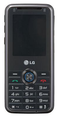Мобильный телефон LG GX200 Black - вид спереди