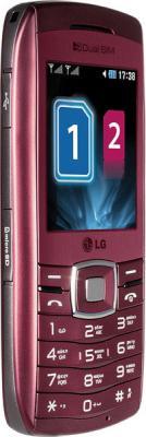 Мобильный телефон LG GX300 Wine-Red - вид сбоку