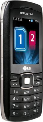 Мобильный телефон LG GX300 Black - вид сбоку