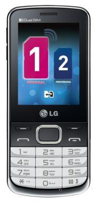 Мобильный телефон LG S367 Soft Gray - вид спереди