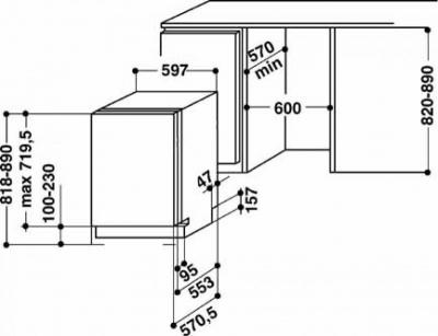 Посудомоечная машина Whirlpool ADG 6500 - схема