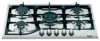 Газовая варочная панель Hotpoint PH 750 T GH - вид сбоку