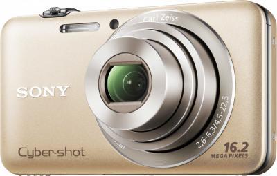 Компактный фотоаппарат Sony Cyber-shot DSC-WX30 Gold - Вид спереди