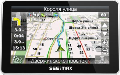 GPS навигатор SeeMax navi E510 BT 8gb - вид спереди