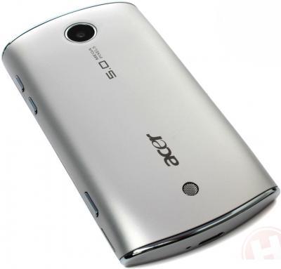 Смартфон Acer Liquid Mini Silver - вид сзади