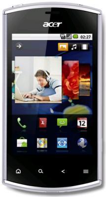 Смартфон Acer Liquid Mini Silver - общий вид