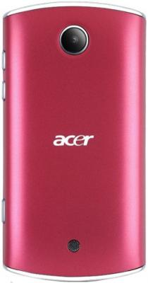 Смартфон Acer Liquid Mini Red - вид сзади