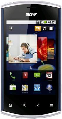 Смартфон Acer Liquid Mini Blue - вид спереди