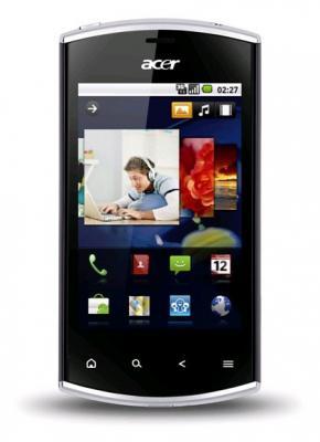 Смартфон Acer Liquid Mini Black - вид спереди