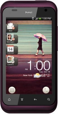Смартфон HTC Rhyme Plum - вид спереди