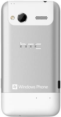 Смартфон HTC Radar Silver - вид сзади