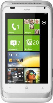 Смартфон HTC Radar Silver - вид спереди