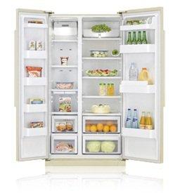 Холодильник с морозильником Samsung RSA1NHVB1 - вид спереди