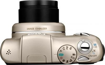 Компактный фотоаппарат Canon PowerShot SX130 IS SILVER - вид сверху