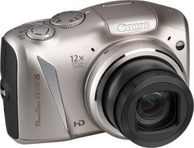 Компактный фотоаппарат Canon PowerShot SX130 IS SILVER - общий вид
