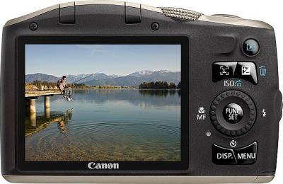 Компактный фотоаппарат Canon PowerShot SX130 IS SILVER - вид сзади
