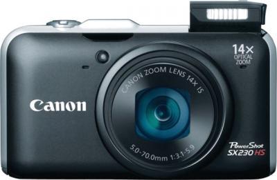 Компактный фотоаппарат Canon PowerShot SX230 HS Black - общий вид