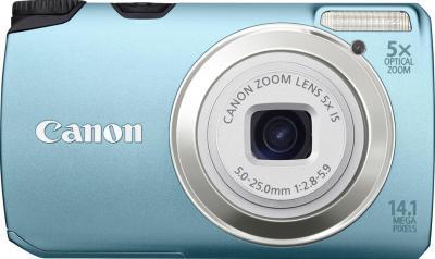 Компактный фотоаппарат Canon PowerShot A3200 IS Aqua - Вид спереди