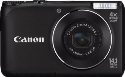 Компактный фотоаппарат Canon PowerShot A2200 Black - вид спереди