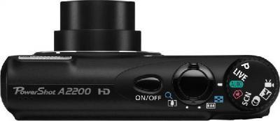 Компактный фотоаппарат Canon PowerShot A2200 Black - вид сверху