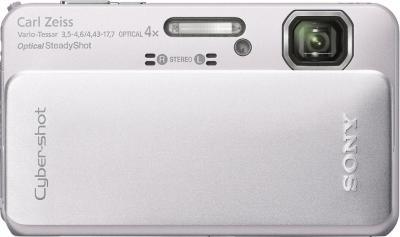 Компактный фотоаппарат Sony Cyber-shot DSC-TX10 Silver - Вид спереди
