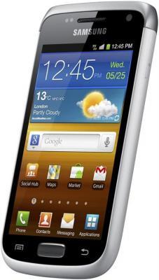 Смартфон Samsung I8150 Galaxy W White (GT-I8150 EWASER) - вид сбоку