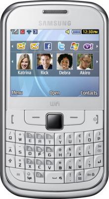 Мобильный телефон Samsung S3350 White - вид спереди
