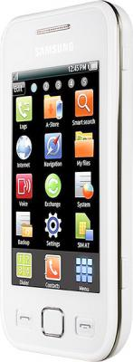 Смартфон Samsung S5250 Wave 525 White (GT-S5250 PWASER) - вид сбоку