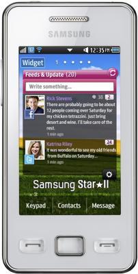 Мобильный телефон Samsung S5260 Star II White (GT-S5260 RWASER) - вид спереди