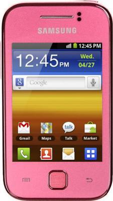Смартфон Samsung S5360 Galaxy Y Pink (GT-S5360 OIASER) - вид спереди