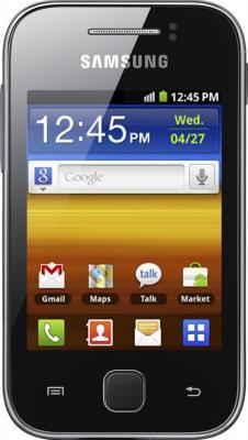 Смартфон Samsung S5360 Galaxy Y Black (GT-S5360 TKASER) - вид спереди