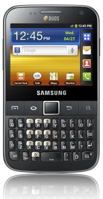 Смартфон Samsung B5510 Galaxy Y Pro Gray (GT-B5510 CAASER) - вид спереди