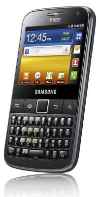 Смартфон Samsung B5510 Galaxy Y Pro Gray (GT-B5510 CAASER) - вид сбоку