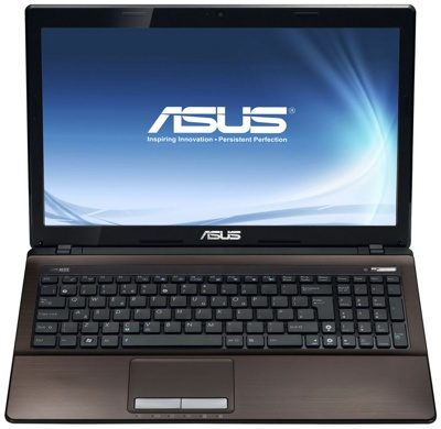 Ноутбук Asus K53SC-SX406D (90N8LC254W15416013AY) - спереди открытый