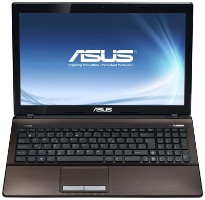 Ноутбук Asus K53SC-SX310D - спереди открытый